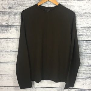 Express Brown Long Sleeve Pullover Shirt Medium